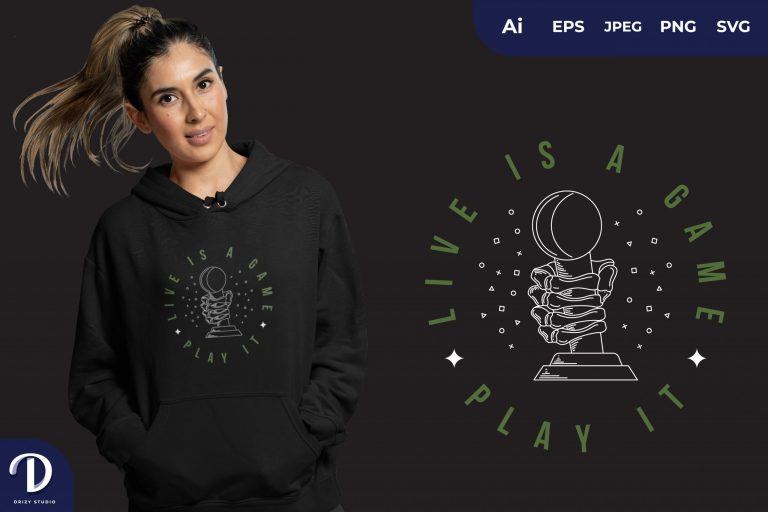 Preview image of Green Life Is a Game, Play it for T-shirt Design
