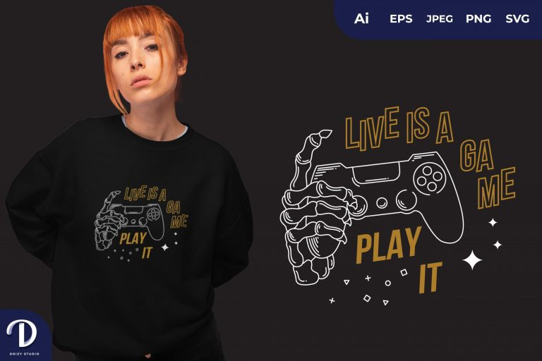 Yellow Life Is a Game, Play it for T-shirt Design