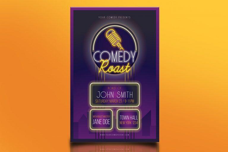 Comedy Roast Flyer
