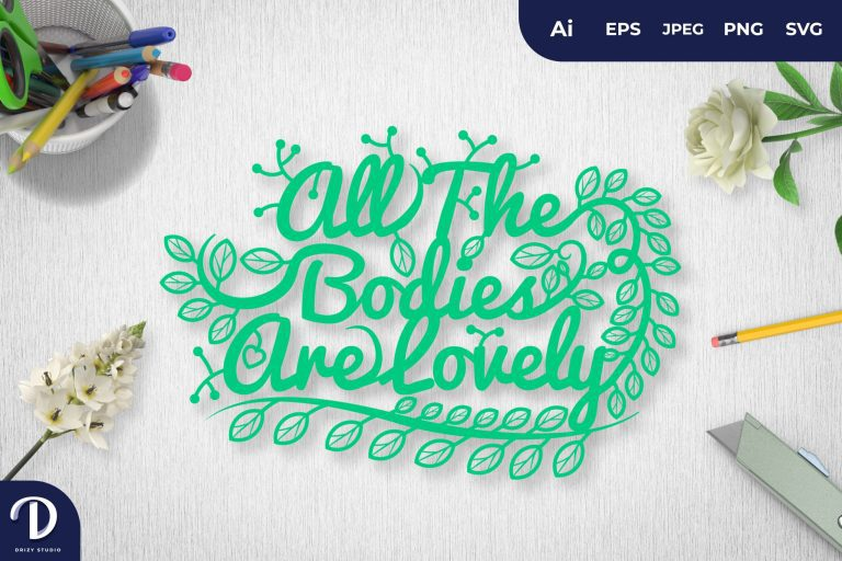 Green All The Bodies Are Lovely Papercut