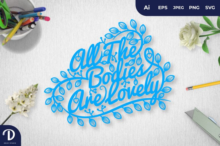 Blue All The Bodies Are Lovely Papercut