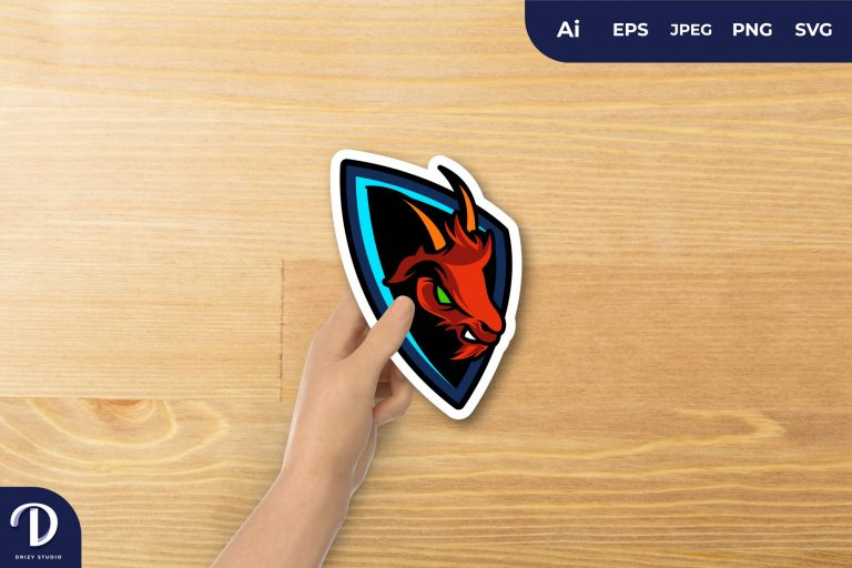 Preview image of Anger Goat E-sport Mascot For Sticker
