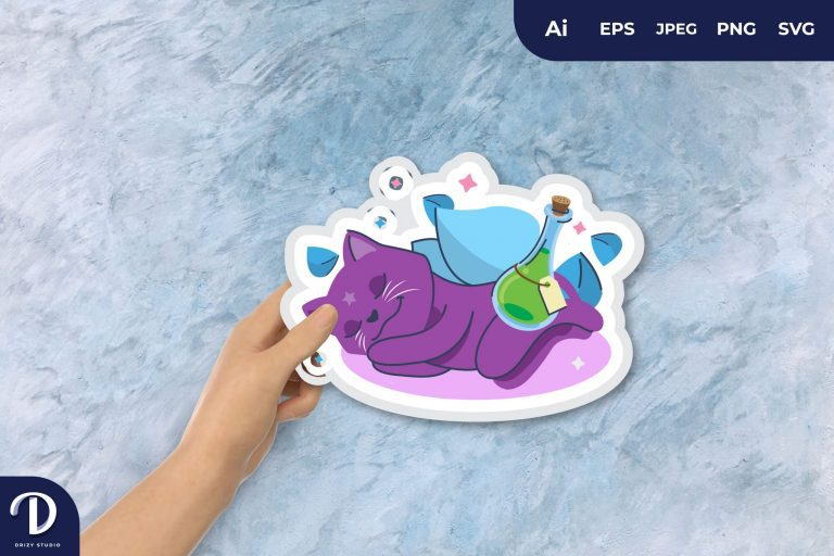 Magical Cat Keep the Magic Potion for Sticker