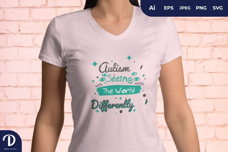Tosca Autism Seeing The World Differently for T-Shirt Design