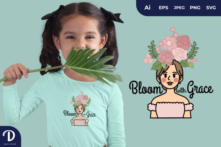 Preview image of Bloom With Grace for T-Shirt Design