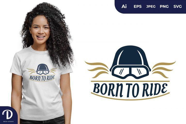 Helmet Born To Ride for T-Shirt Design