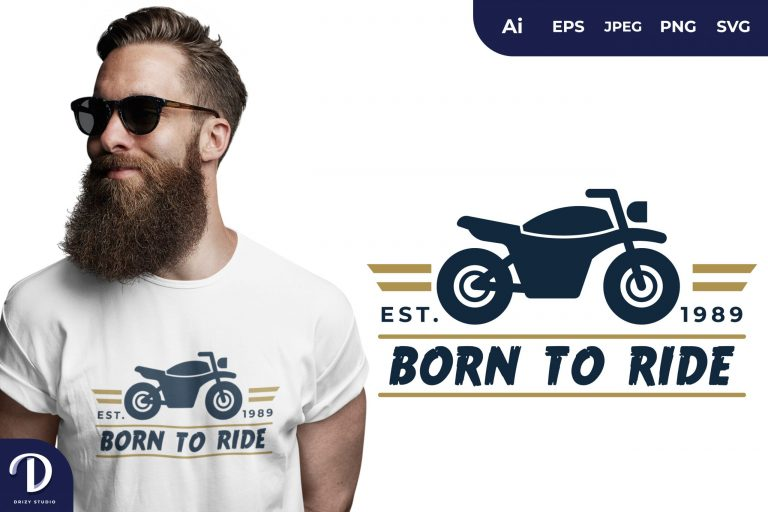 Classic Motorbike Born To Ride for T-Shirt Design