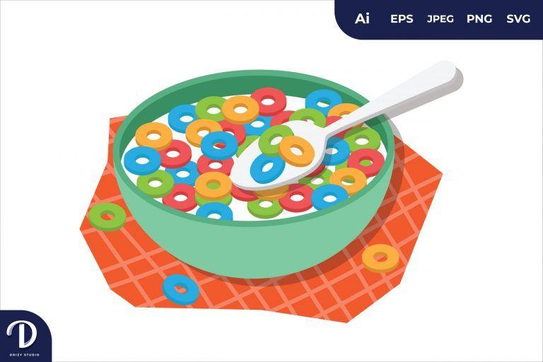 Cereal Breakfast Food Illustration