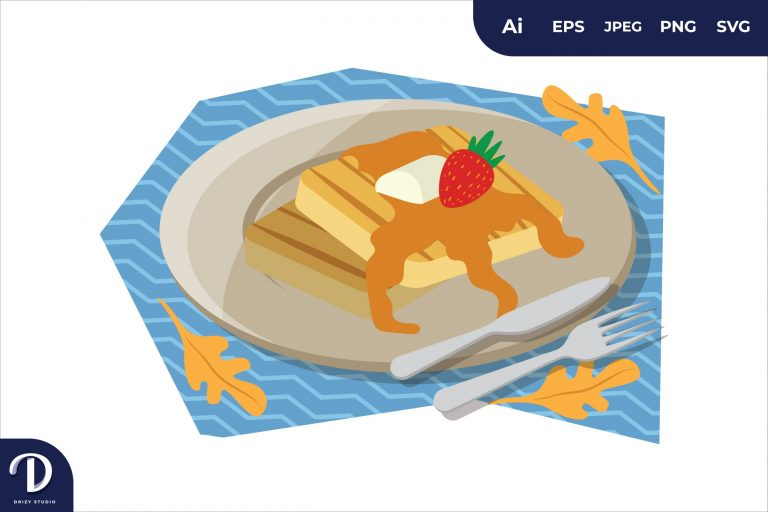 Preview image of Vanilla French Toast Breakfast Food Illustration