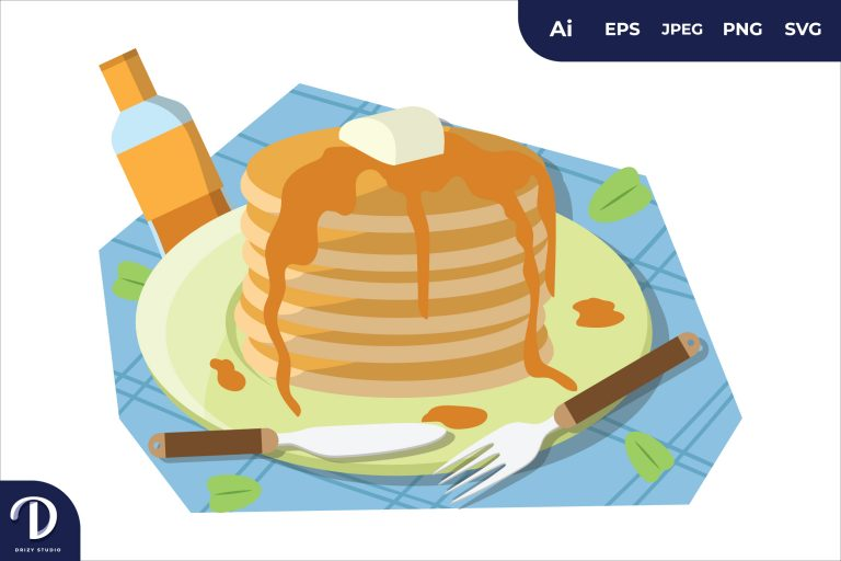 Preview image of Pancake Breakfast Food Illustration