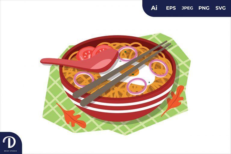 Preview image of Ramen Breakfast Food Illustration
