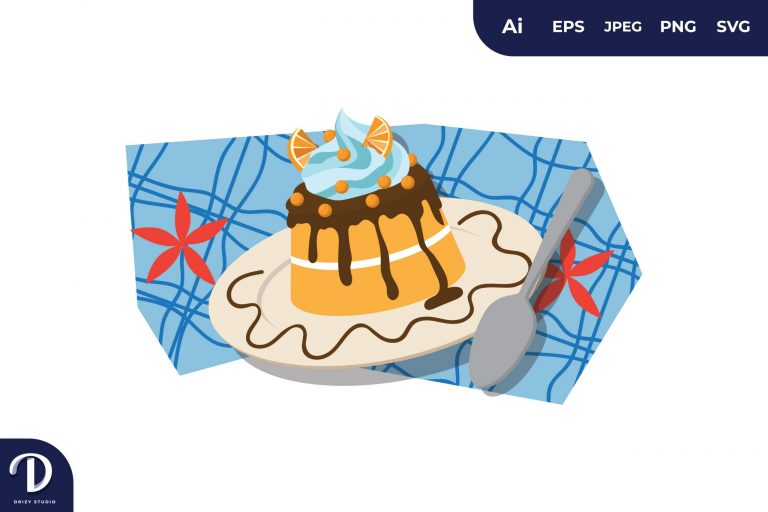 Preview image of Orange Topping Cake Illustration