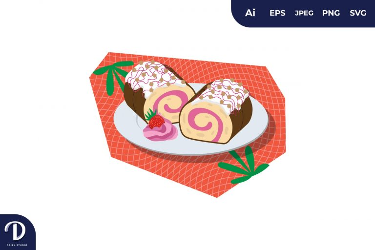 Preview image of Roll Cake Illustration