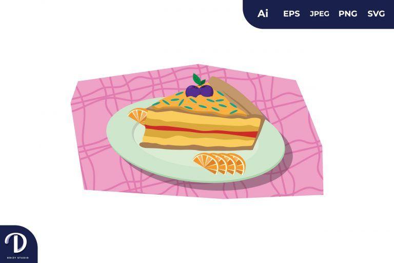 Sweet Cake Illustration