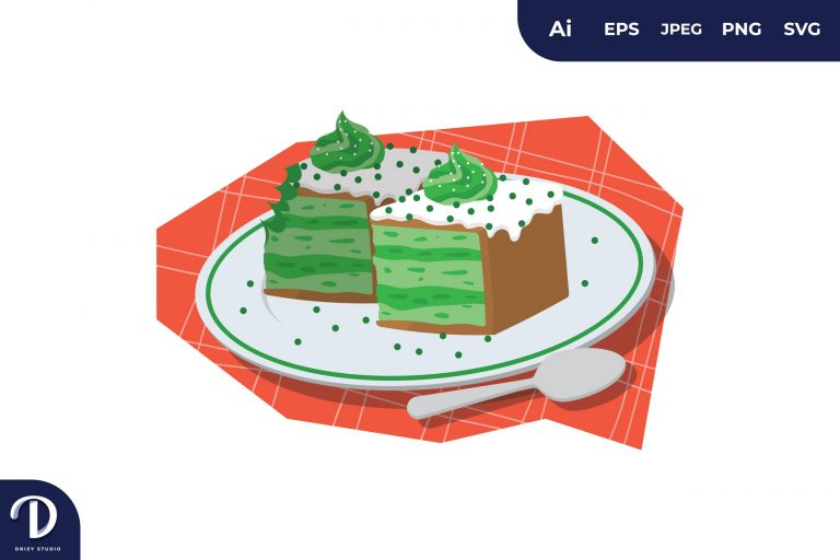 Preview image of Green Tea Cake Illustration