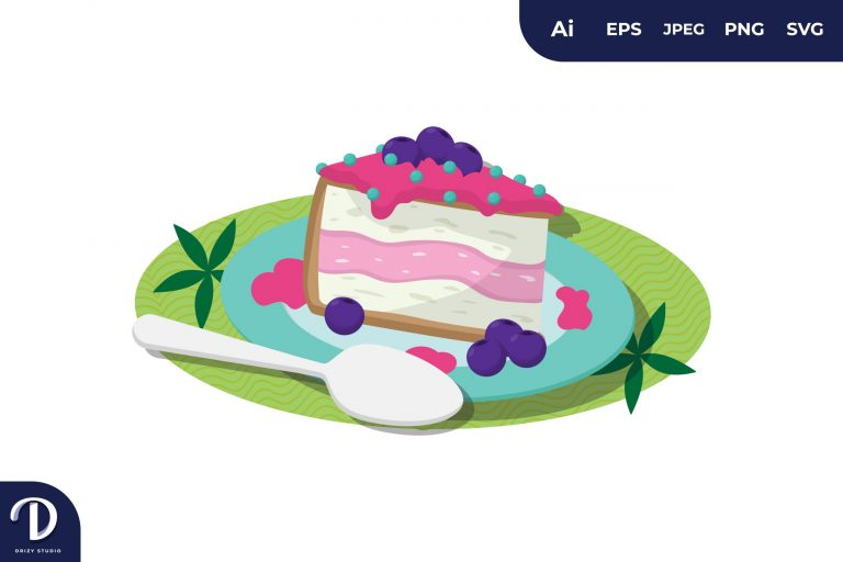 Preview image of Vanilla Strawberry Cake Illustration