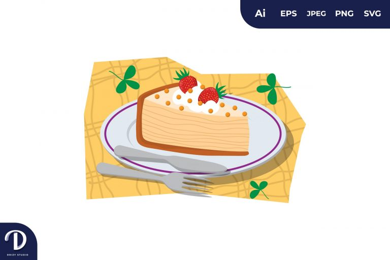 Preview image of Strawberry Topping Cake Illustration