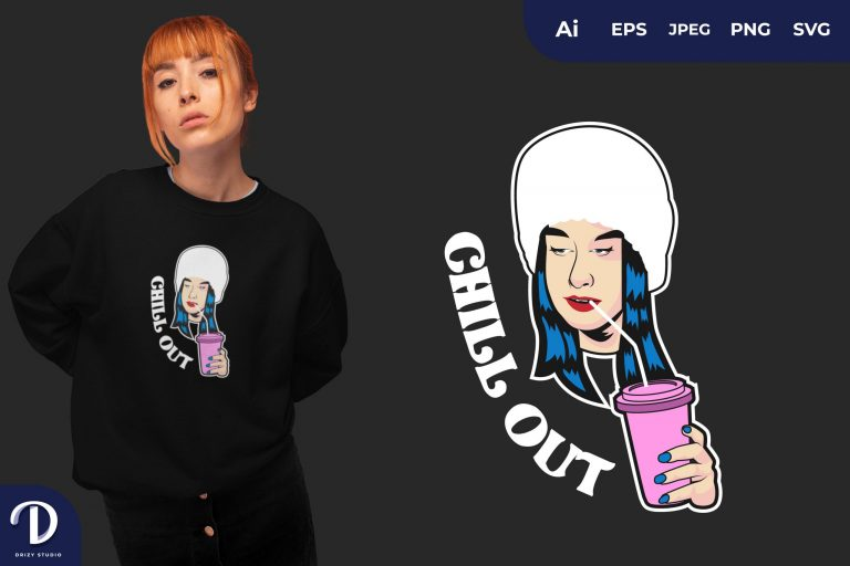 Drinking Chill Out for T-Shirt Design