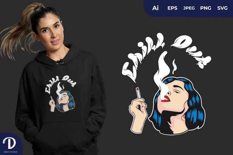 Smoking Chill Out for T-Shirt Design