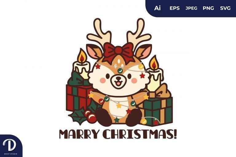 Christmas Deers and Gifts