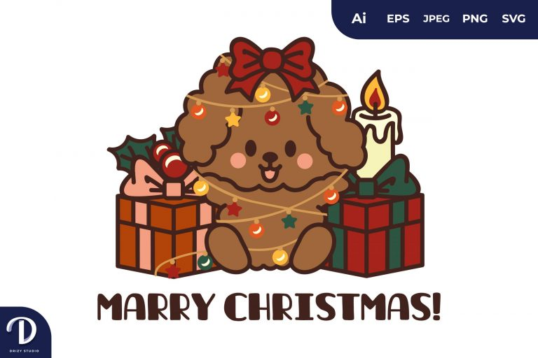 Christmas Dogs and Gifts