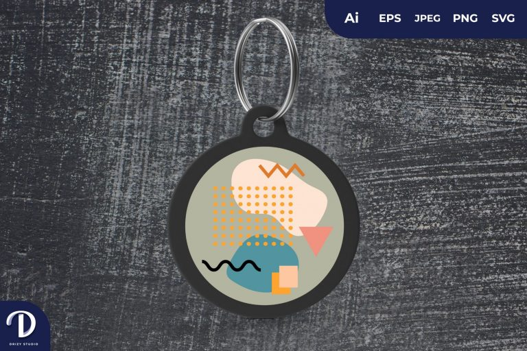 Preview image of Memphis Pattern Keychain