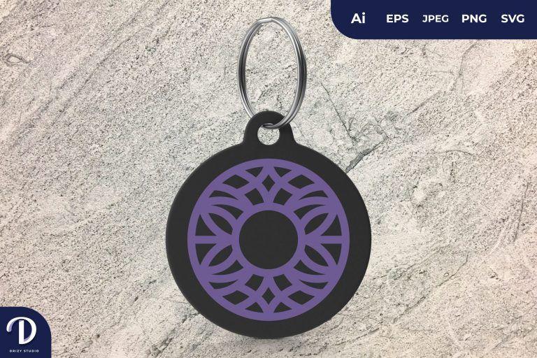 Circle Ornament Keychain