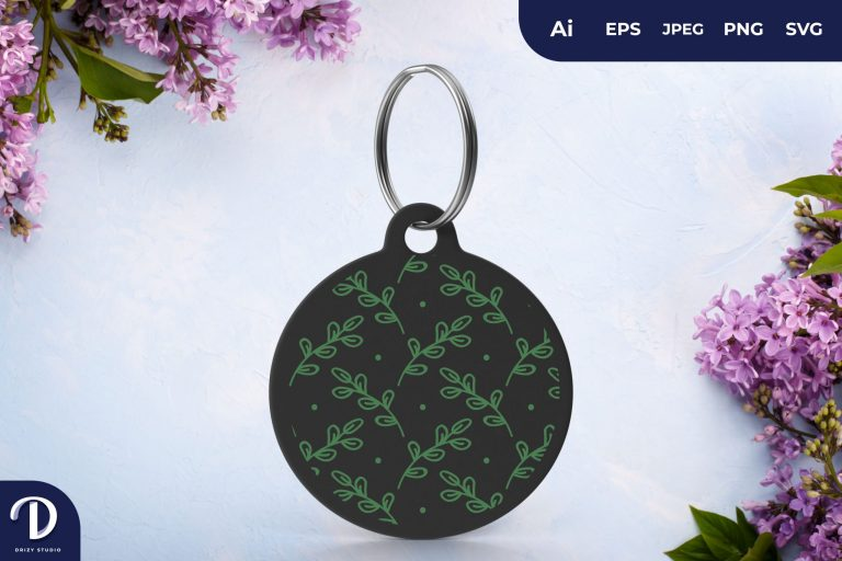 Preview image of Green Circle Pattern Keychain