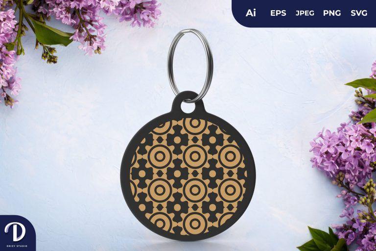Circle Pattern Keychain