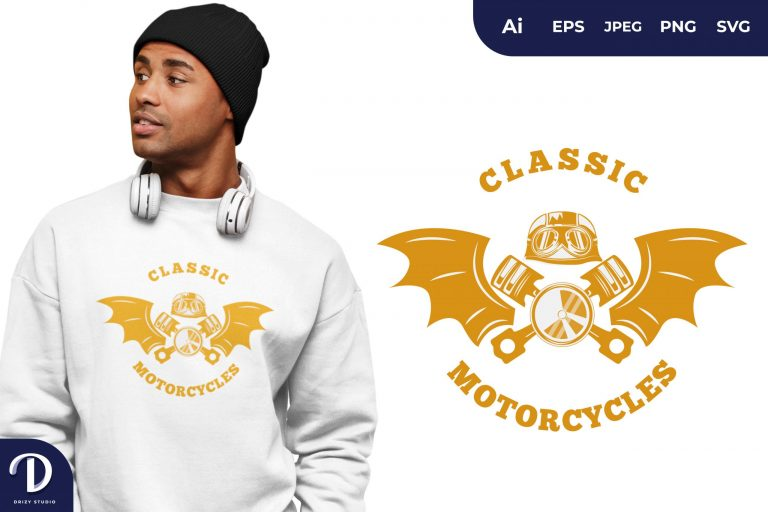Preview image of Yellow Classic Biker for T-Shirt Design