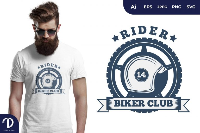 Preview image of Blue Classic Biker for T-Shirt Design