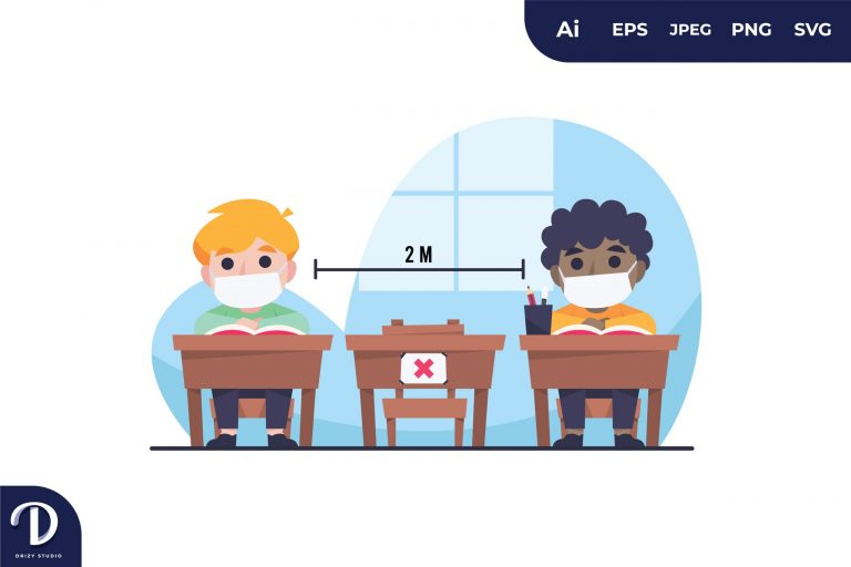 Classroom with Social Distancing