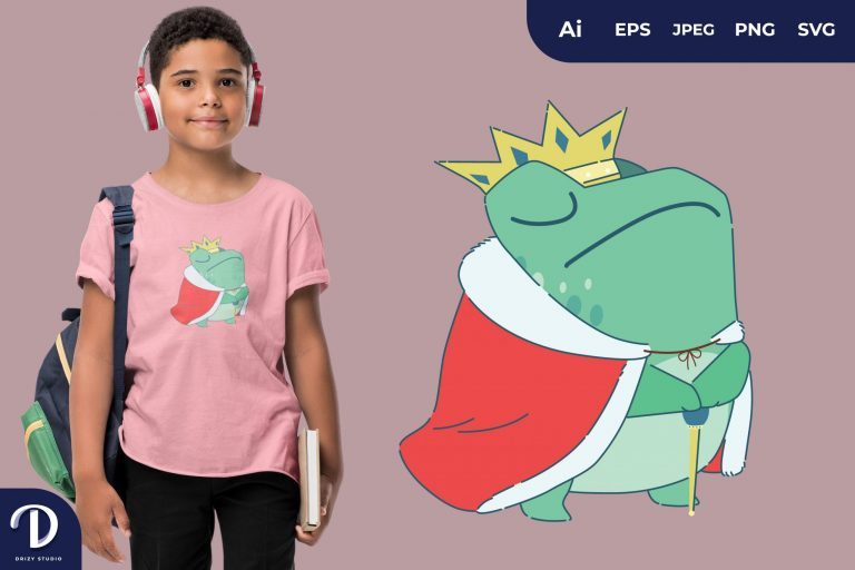 Honor Cute Frog Prince for T-Shirt Design