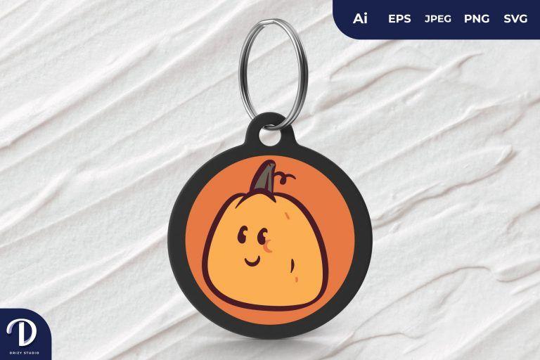 Cute Pumpkin Head Keychain