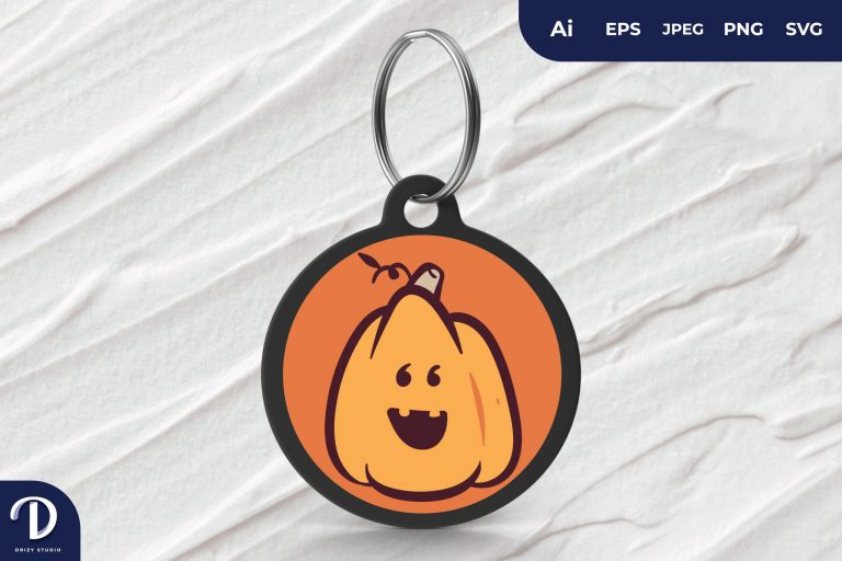 Preview image of Cute Pumpkin Head Keychain