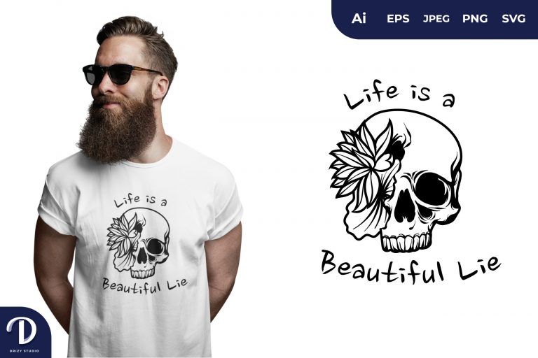 Half Blindfold Quote for T-Shirt Design