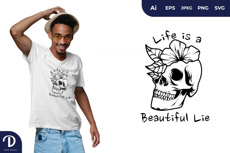 Preview image of Death Quote for T-Shirt Design