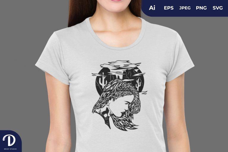 Dessert Nature Girl for T-Shirt Design