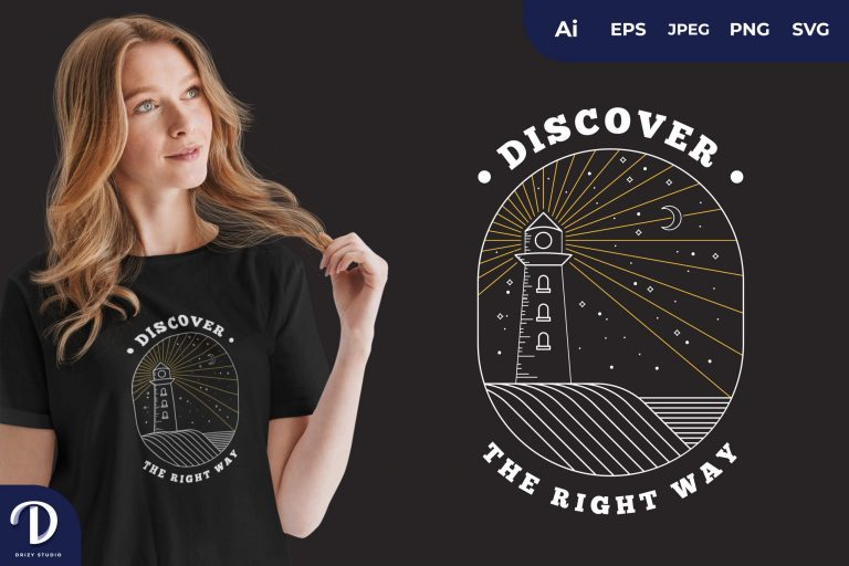 Preview image of Clear Night Discover The Right Way for T-Shirt Design
