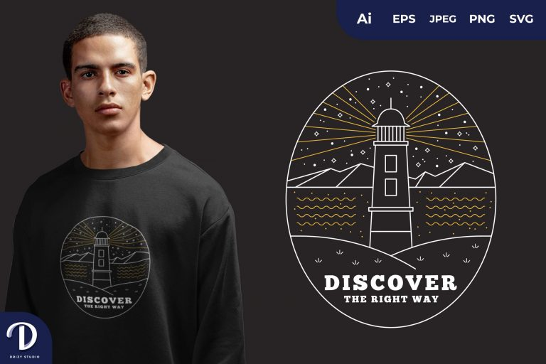 Mountain Discover The Right Way for T-Shirt Design
