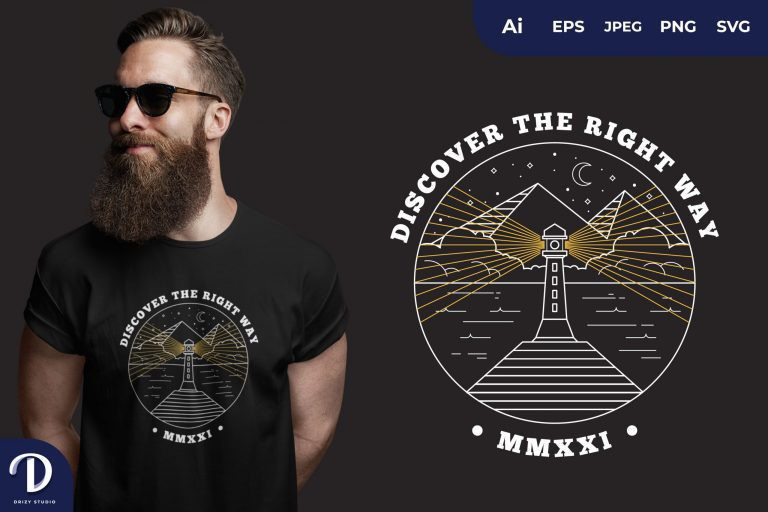 Pyramid Discover The Right Way for T-Shirt Design