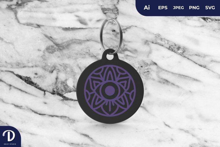 Eye Mandala Keychain