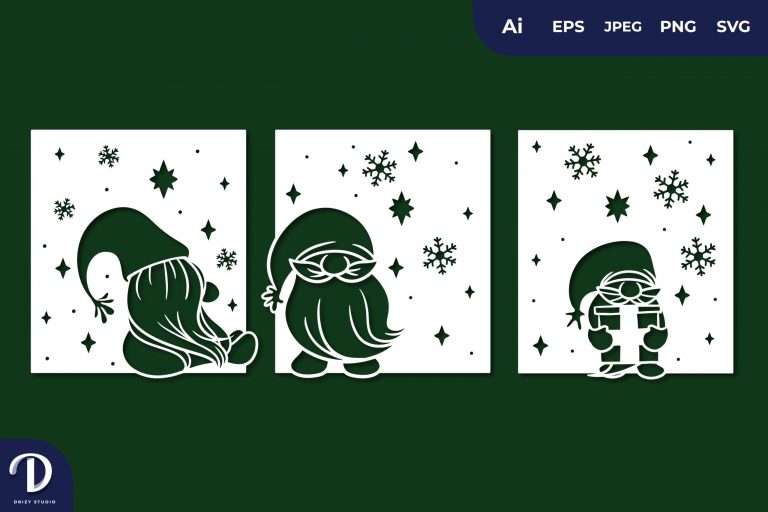 Fall Gnome Card Papercut