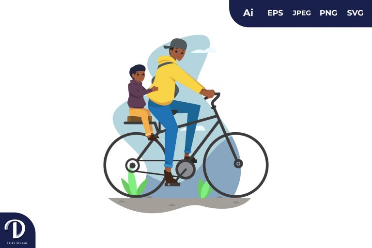Preview image of Father and Son Bicycling
