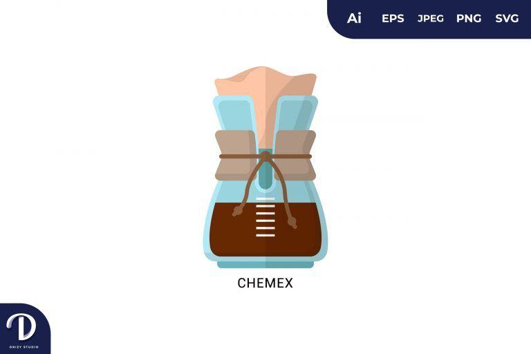 Chemex Flat Design Coffee Brewing Methods