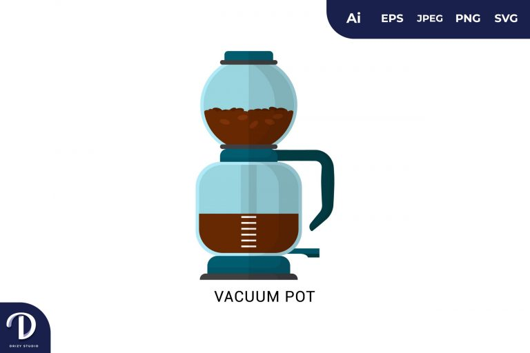 Preview image of Vacuum Pot Flat Design Coffee Brewing Methods