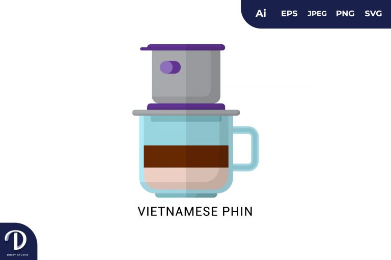 Vietnamese Phin Flat Design Coffee Brewing Methods