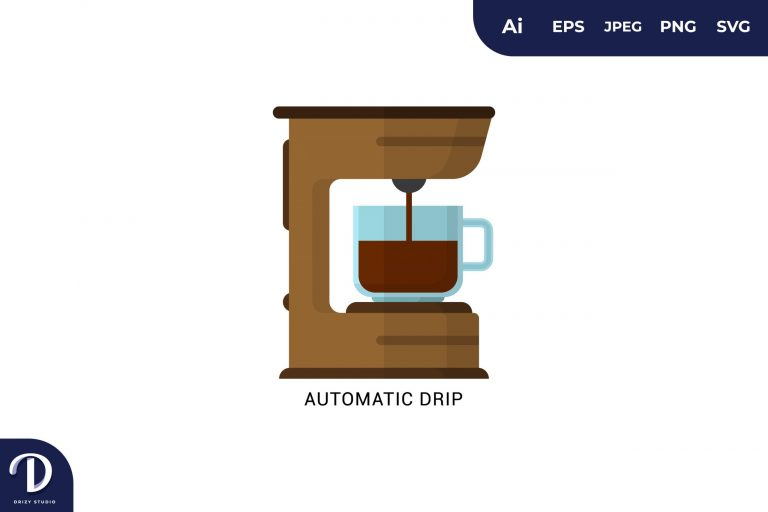 Preview image of Automatic Drip Flat Design Coffee Brewing Methods