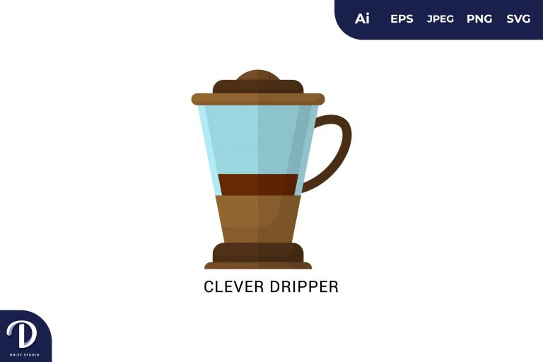 Clever Dripper Flat Design Coffee Brewing Methods
