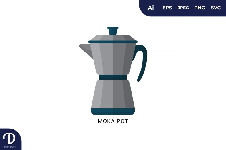 Moka Pot Flat Design Coffee Brewing Methods
